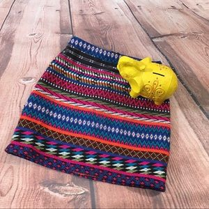 Topshop Rainbow Knit Skirt